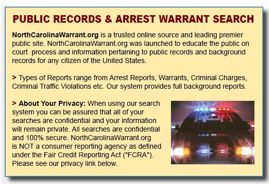 North Carolina Outstanding Warrant Search - North Carolina ...